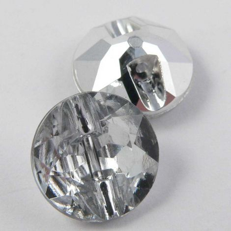 12mm Clear Faceted Shank Button