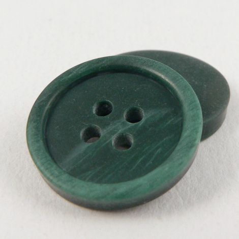 15mm Green Horn Effect Suit Style 4-Hole Button