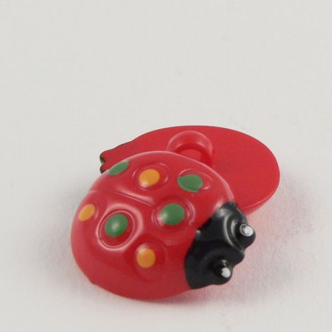 16mm Red Ladybird Shank Button