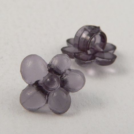 10mm Grey Flower Shank Button