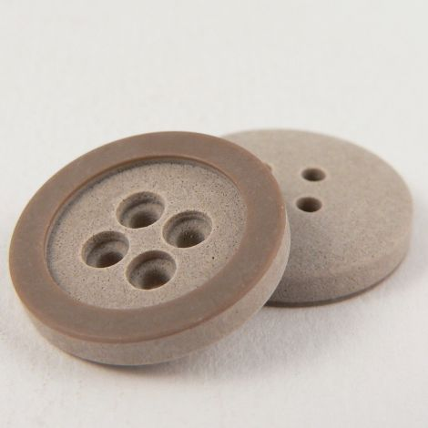 11mm Italian Beige Stone Effect 4 Hole Shirt Button