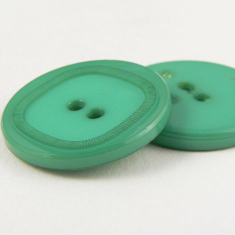 15mm Italian Green Elegant 2 Hole Suit Button