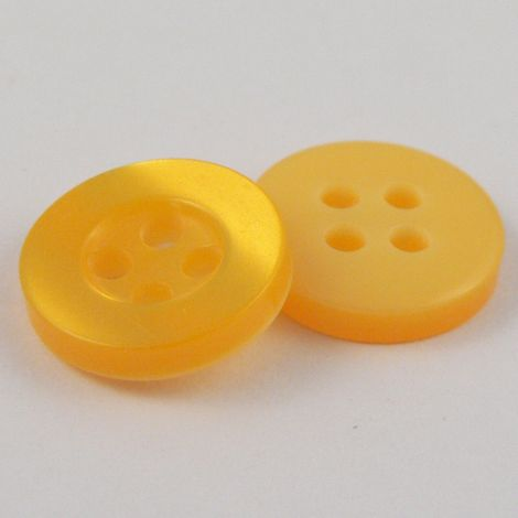 10mm Pearl Yellow 4 Hole Shirt Button