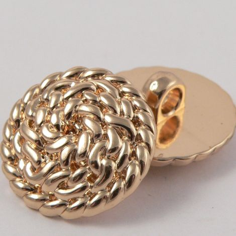 25mm Gold Rope Style Shank Coat Button