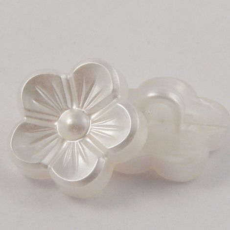 10mm Ivory Pearlised Flower Shank Buttons