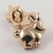 18mm Gold Rabbit Shank Buttons