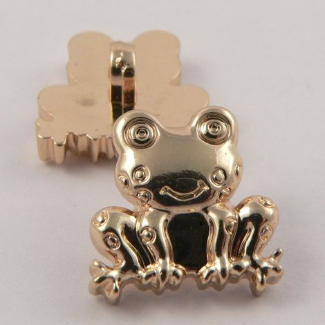 18mm Gold Frog Shank Buttons
