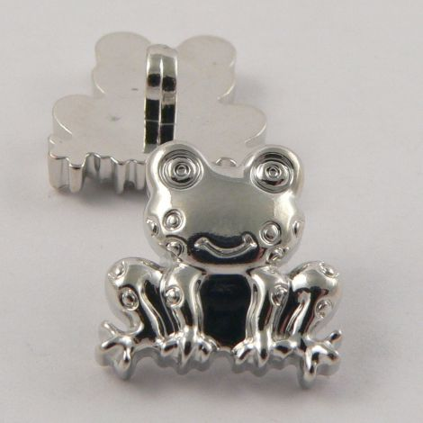18mm Silver Frog Shank Buttons