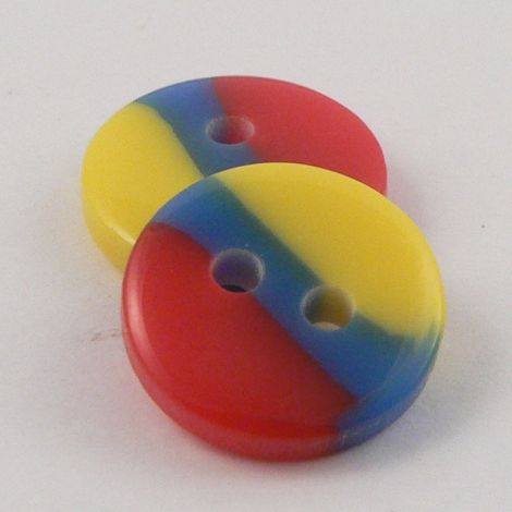 13mm Multicoloured Smartie Shaped 2 Hole Shirt Buttons