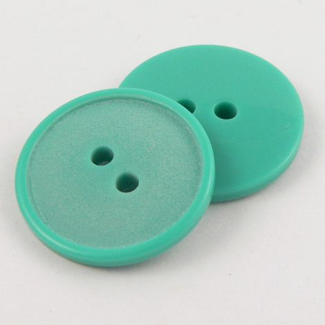 11mm Jade Green Polyester 2 hole Sewing Button