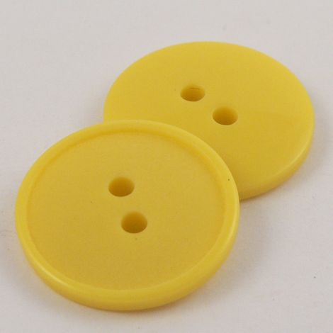 11mm Yellow Polyester 2 hole Sewing Button