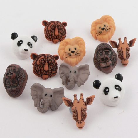 Dress It Up 'Animal World' Button Pack