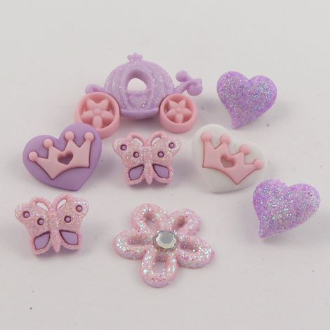 Dress It Up 'Our Princess' Button Pack