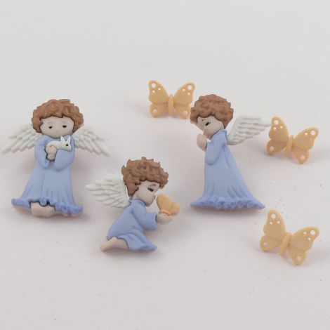 Dress It Up 'Cherished Angels' Button Pack