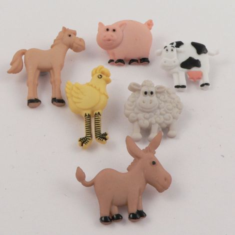 Dress It Up 'Funny Farm' Button Pack