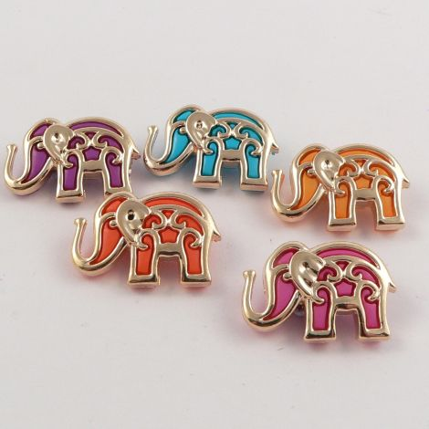 Dress It Up 'Bollywood Elephants' Button Pack