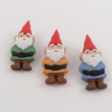 Dress It Up 'Garden Gnomes' Button Pack