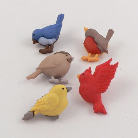 Dress It Up 'Feathered Friends' Button Pack