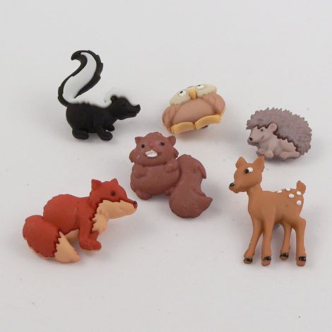 Dress It Up 'Forest Babies' Button Pack