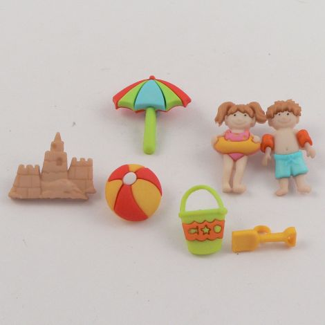 Dress It Up 'Day At The Beach' Button Pack