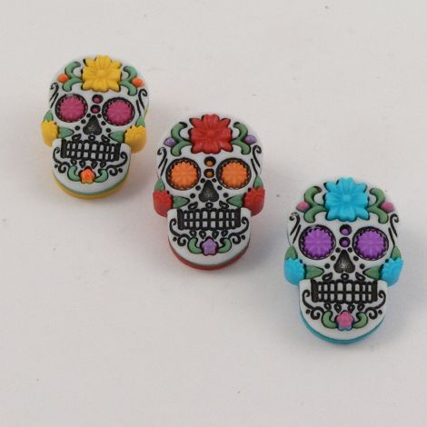Dress It Up 'Halloween Day Of The Dead' Button Pack