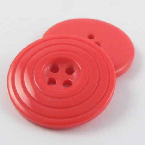 25mm Red Coat Style 4 Hole Button