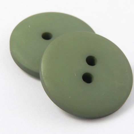 10mm Green Matt Smartie Style 2 Hole Button