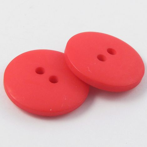 10mm Red Matt Smartie Style 2 Hole Button