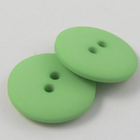 10mm Pea Green Matt Smartie Style 2 Hole Button