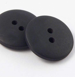 12mm Black Matt Smartie Style 2 Hole Button
