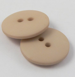 18mm Fawn Matt Smartie Style 2 Hole Button