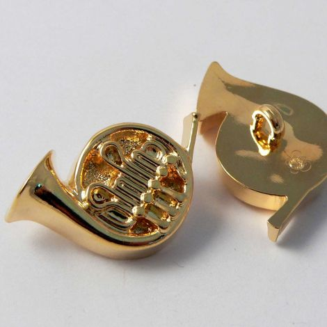 23mm Gold French Horn Musical Instrument Shank Button