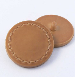 23mm Tan Faux Leather Shank Coat Button