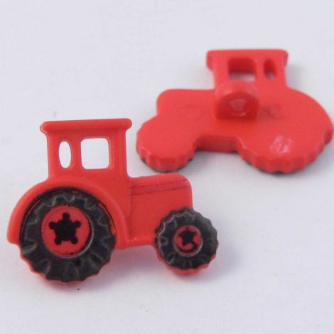 22mm Red Tractor Shank Button