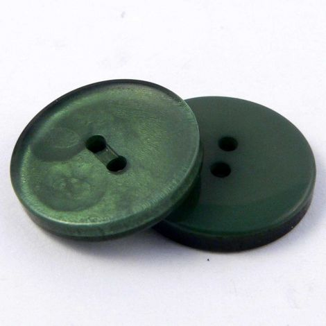 15mm Shimmering Forest Green 2 Hole Sewing Button