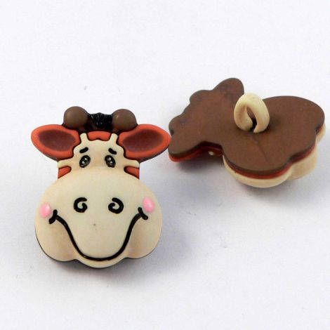 18mm 3D Giraffe's Head Shank Button