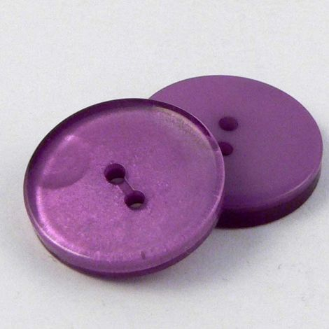 15mm Shimmering Purple 2 Hole Sewing Button