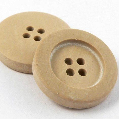 20mm Natural Faux Wood Rimmed 4 Hole Button