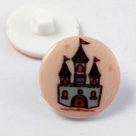 17mm Fairy Castle Shank Button