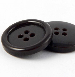 15mm Dark Brown Blazer/Suit 4 Hole Button