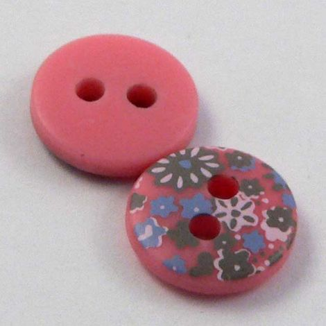 10mm Pink Flower Selection 2 Hole Sewing Button