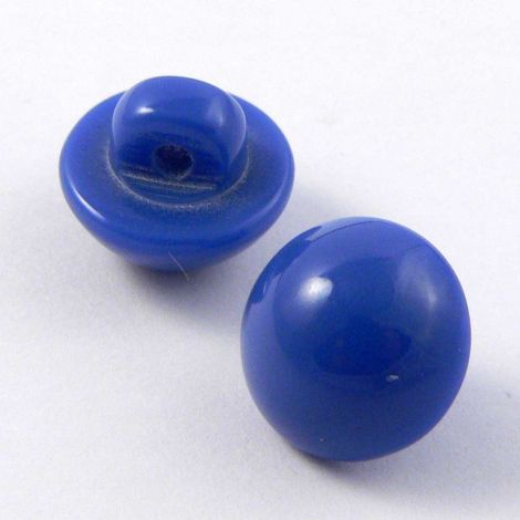 11mm Royal Blue Smooth Domed Shank Button