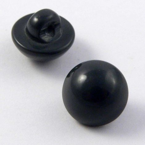 11mm Grey Smooth Domed Shank Button