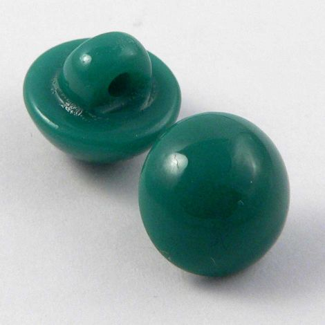 11mm Jade Green Smooth Domed Shank Button
