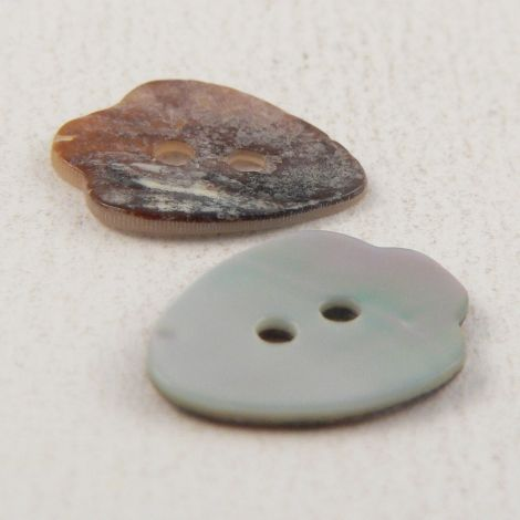 15mm Natural Agoya Shell Arrowhead 2 Hole Button