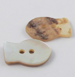17mm Natural Agoya Shell Fish 2 Hole Button