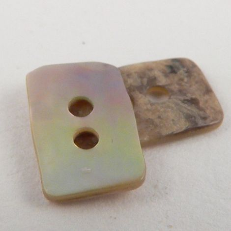 11mm Agoya Rectangular Pearl Shell 2 Hole Button