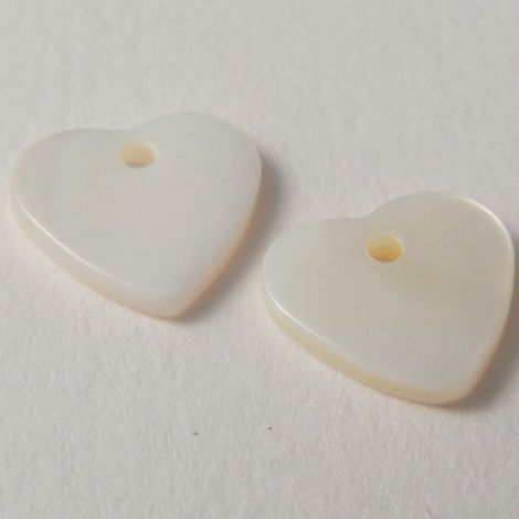 12mm Small Heart River Shell 1 Hole Button