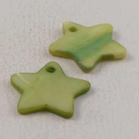 18mm Green Star River Shell 1 Hole Button