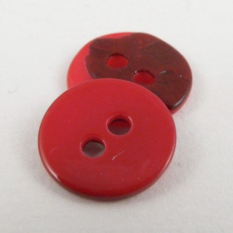10mm Pinky/Red Agoya Shell 2 Hole Button